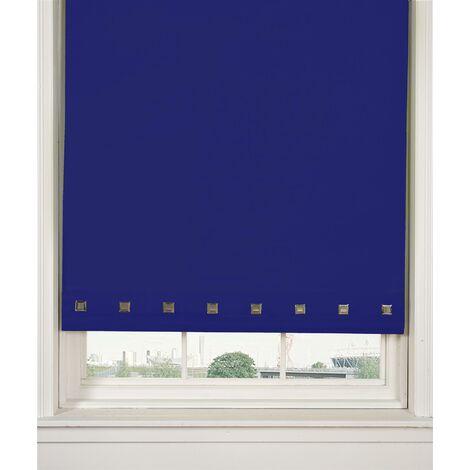 Roller Blind Sq. Eyelet 60 x 165cm Royal Blue