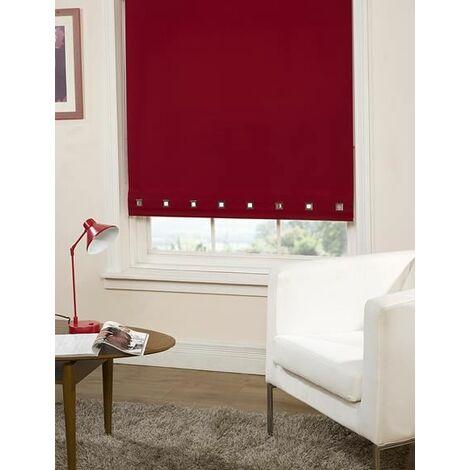 Roller Blind Sq. Eyelet 90 x 165cm Red