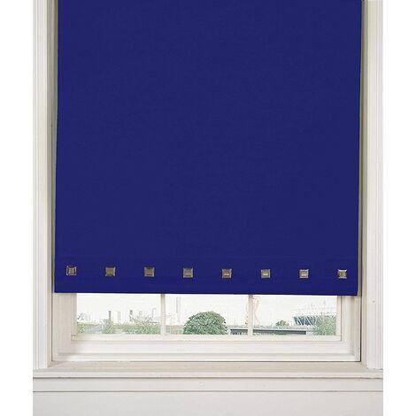 Roller Blind Sq. Eyelet 90 x 165cm Royal Blue