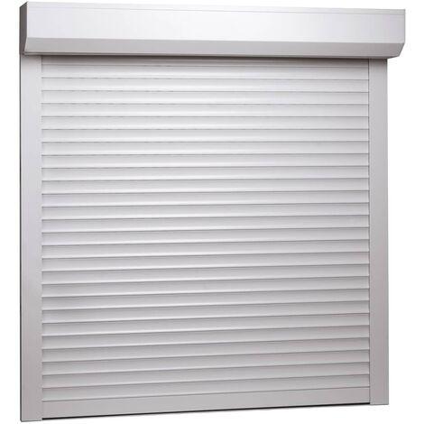 Rollladen Aluminium 100 x 100 cm Weiß