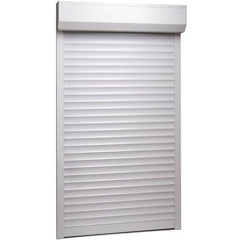 Rollladen Aluminium 100 x 210 cm Weiß