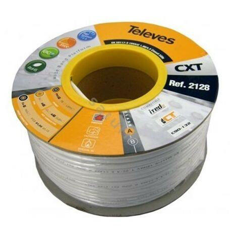 """main image of """"Rollo 100 metros cable coaxial de antena Televes CTX blanco 2128"""""""