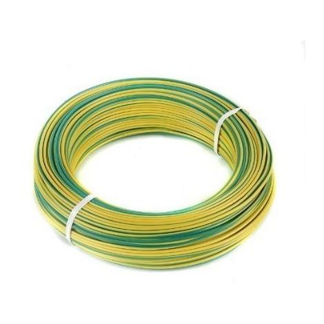 Rollo 100 metros cable unipolar libre de halogenos CPR 10mm amarillo verde