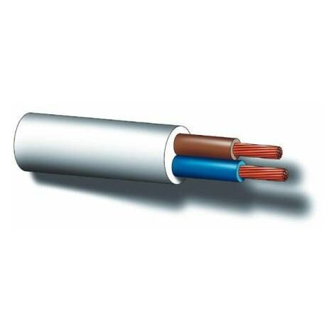 Rollo 100 metros manguera 2x1,5mm blanco
