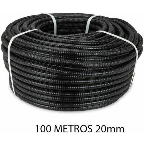 Rollo 100 metros tubo reforzado negro 20mm