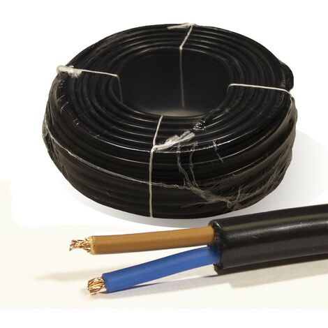 Rollo 100 mtrs. Manguera 2X1mm flexible H05VV-F 500V Negra