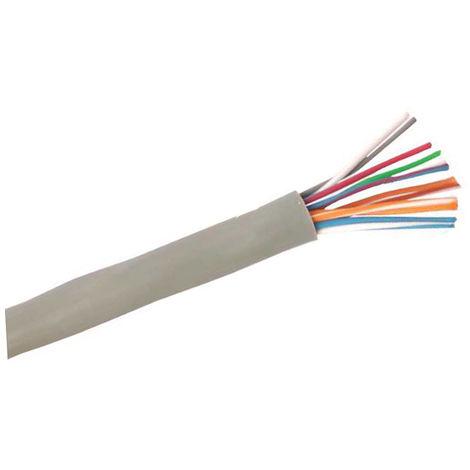 Rollo 100m. cable trenzado con funda 6x0,25mm2