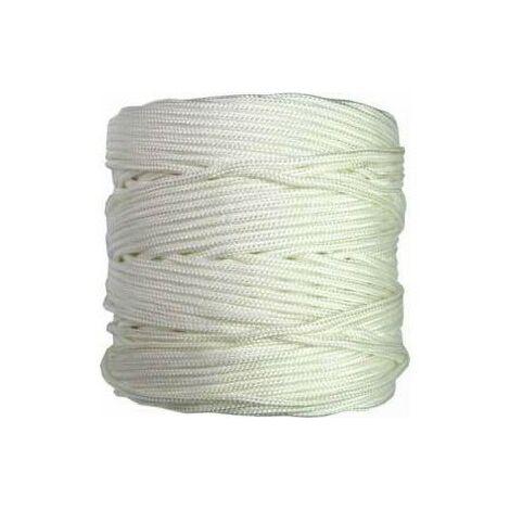 Rollo 200mt. cuerda trenzada 4mm. blanca