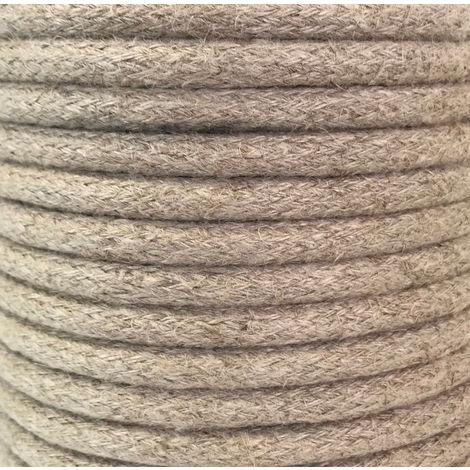 Rollo 25 metros cable decorativode cáñamo beige