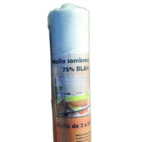 ROLLO 2X10M MALLA SOMBREADORA BLANCA 75% SB210