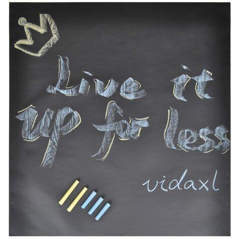 Rollo adhesivo de pizarra de pared con tizas 2 uds 0,45 x 2 m