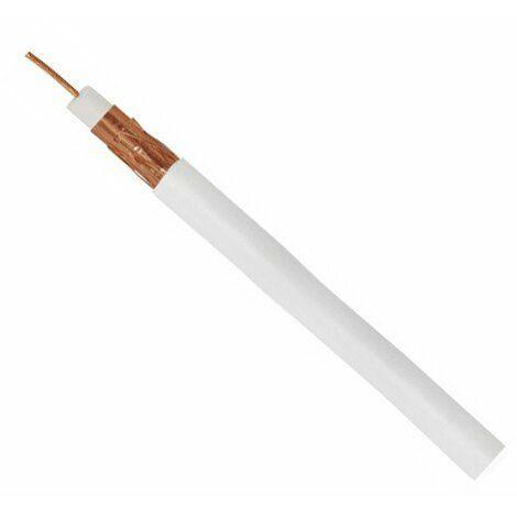 Rollo Cable coaxial 100 metros blanco 3xCu Cobre-Cobre