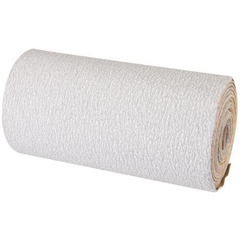Rollo de 5 m de lija blanca de óxido de aluminio con estearato, grano 320 SILVERLINE