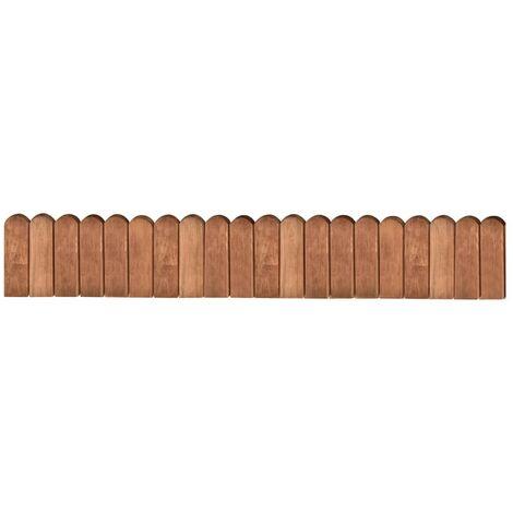 Rollo de borde de madera de pino impregnada marrón 120 cm