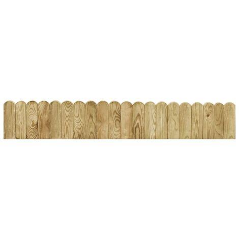 Rollo de borde de madera de pino impregnada verde 120 cm