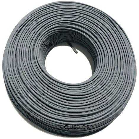 Rollo de cable flexible unipolar 1 mm color gris 100m
