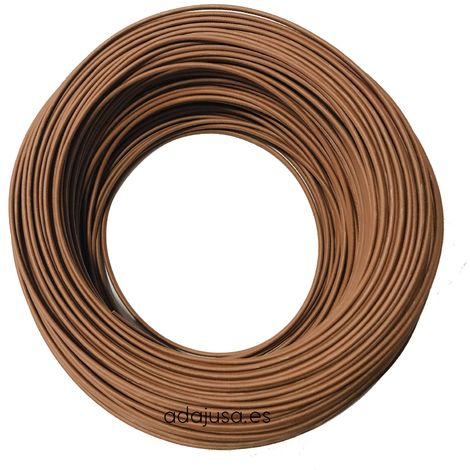 Rollo de cable flexible unipolar 1 mm color marron 100m