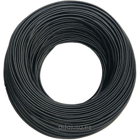 Rollo de cable flexible unipolar 1 mm color negro 100m