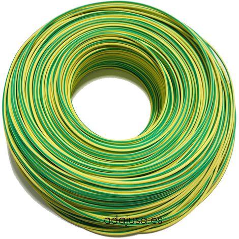 Rollo de cable flexible unipolar 1 mm color tierra 100m