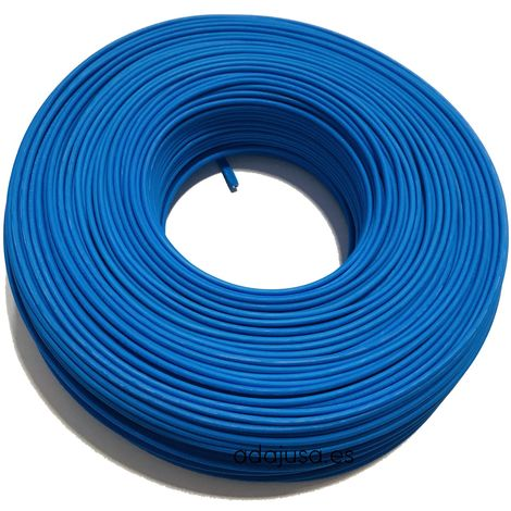 Rollo de cable flexible unipolar 10 mm color azul 100m