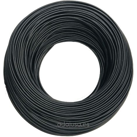 Rollo de cable flexible unipolar 10 mm color negro 100m