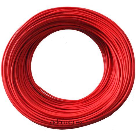 Rollo de cable flexible unipolar 1,5 mm color rojo 100m
