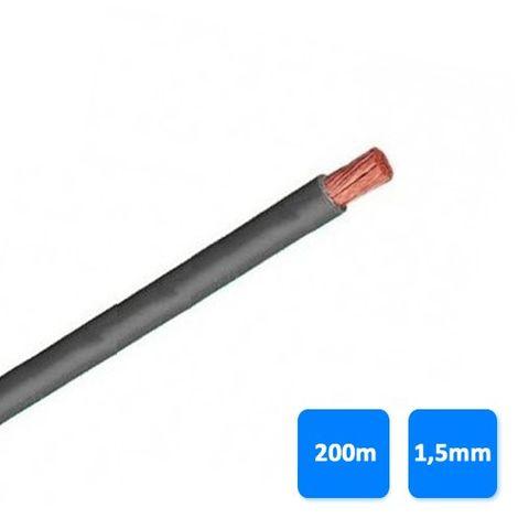 Rollo de cable unipolar 1,5mm gris (200 metros) H07V-K 750V
