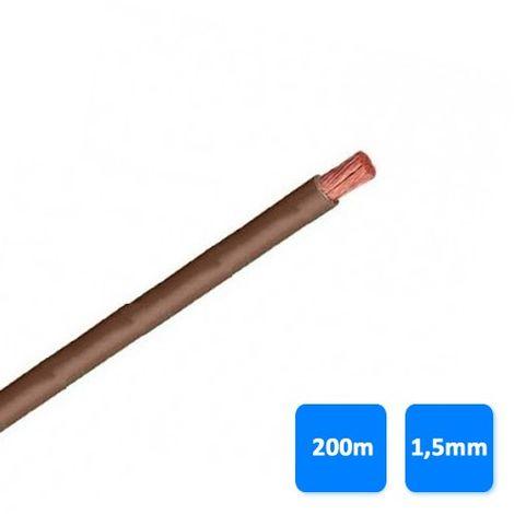 Rollo de cable unipolar 1,5mm marrón (200 metros) H07V-K 750V