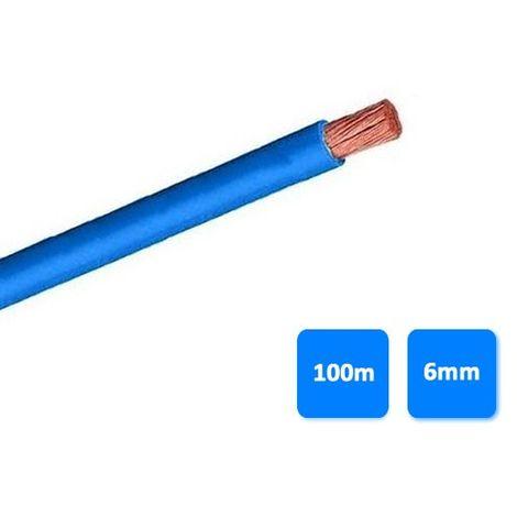 Rollo de cable unipolar 6mm azul (100 metros) H07V-K 750V