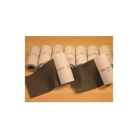 Rollo de lija de tela 153 mm x 7.5m, grano 1800 Micro-Mesh