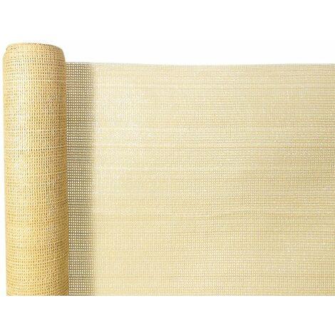Rollo de malla ocultacion total 95% (140g/m2) 1 x 50 beige