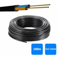 Rollo de manguera 2x1.5mm negra 0.6/1 kV (100 metros) RV-K