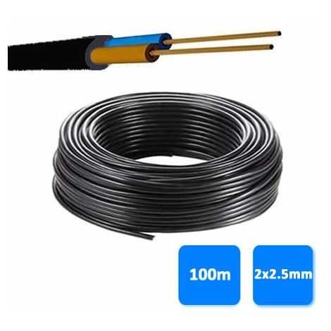Rollo de manguera 2x2.5mm negra 0.6/1 kV (100 metros) RV-K