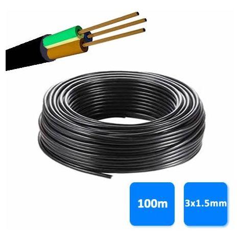 Rollo de manguera 3x1.5mm negra 0.6/1 kV (100 metros) RV-K