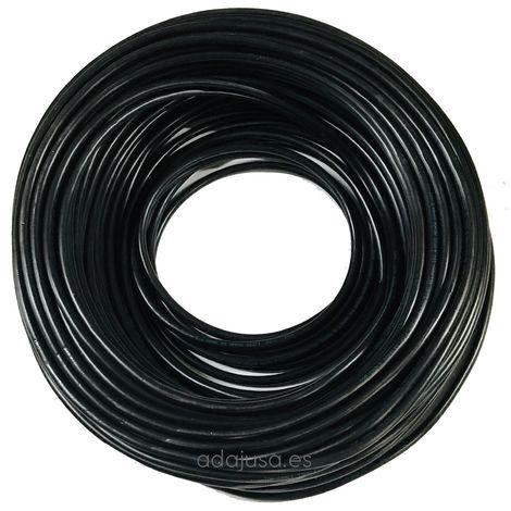 Rollo de manguera 4x1mm PVC negro 100m