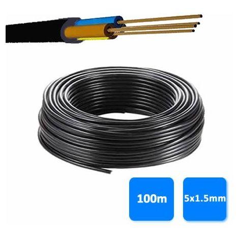 Rollo de manguera 5x1.5mm negra 0.6/1 kV (100 metros) RV-K