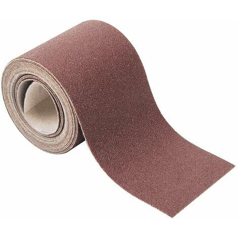 Rollo de papel abrasivo adhesivo 93 mm x 4 m Grano 80