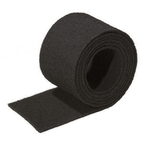 Rollo estropajo fibra abrasivo negro 3 metros (150x3000mm). Dureza alta