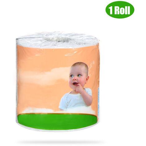 Rollo individual de 10 * 12 cm, papel higienico de pulpa de madera, papel tisu de bano domestico