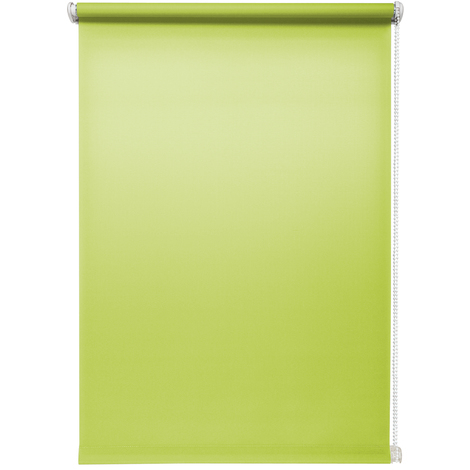 Rollo lichtdurchlässig Grün ohne Bohren verschiedene Größen Klemmfix ohne Bohren Fensterrollo für kleine und große Fenster und Türen Sichtschutzrollo Seitenzugrollo Klemmrollo