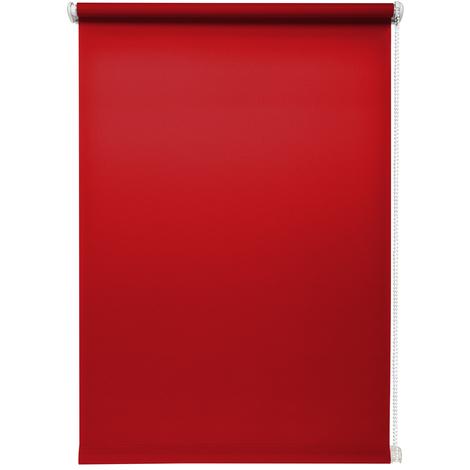 Rollo lichtdurchlässig Rot ohne Bohren verschiedene GrößenKlemmfix ohne Bohren Fensterrollo für kleine und große Fenster und Türen Sichtschutzrollo Seitenzugrollo Klemmrollo
