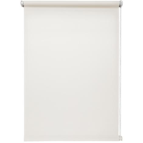 Rollo lichtdurchlässig Weiß ohne Bohren verschiedene Größen Klemmfix ohne Bohren Fensterrollo für kleine und große Fenster und Türen Sichtschutzrollo Seitenzugrollo Klemmrollo
