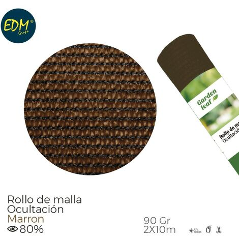 ROLLO MALLA MARRON 80% 90G 2 X10MTS