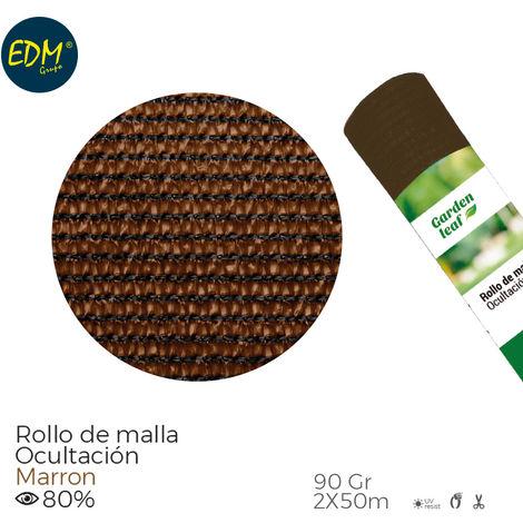 Rollo malla marron 80% 90gr 2x50mts