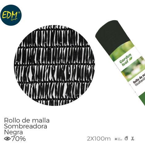 Rollo Malla Negra 70% 2X100Mts