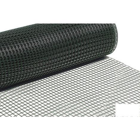 Rollo Malla Plástico Cuadrada Verde 20mm - Color verde Medida 20 mm - NEOFERR..