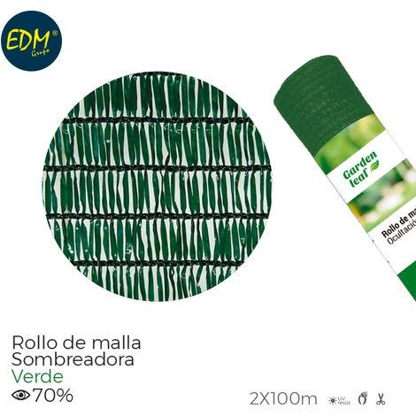 Rollo malla Verde 70% 2x100mts