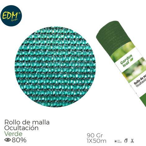 ROLLO MALLA VERDE 80% 90G 1X50MTS
