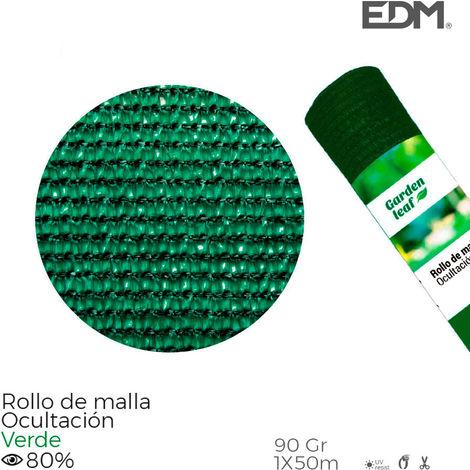 Rollo malla verde 80% 90gr 1x50mts