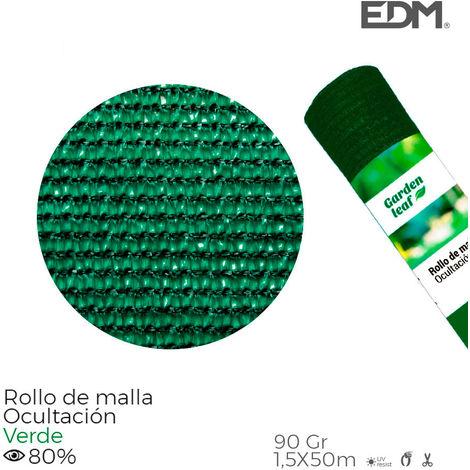 Rollo malla verde 80% 90gt 1,5x50mts